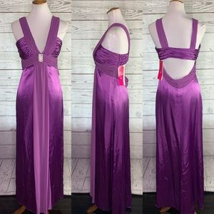 NWT Morgan & co violet purple prom dress gown 8